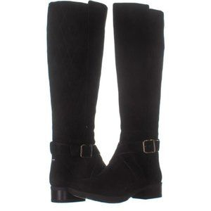 NWB DKNY Mattie Quilted Suede Knee-High Boots